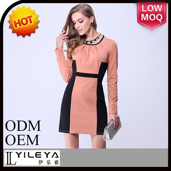 new arrival one piece slim ladies elegant formal dress patterns