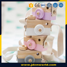 Hottest item camera shape wooden decor creative baby toys for gifts