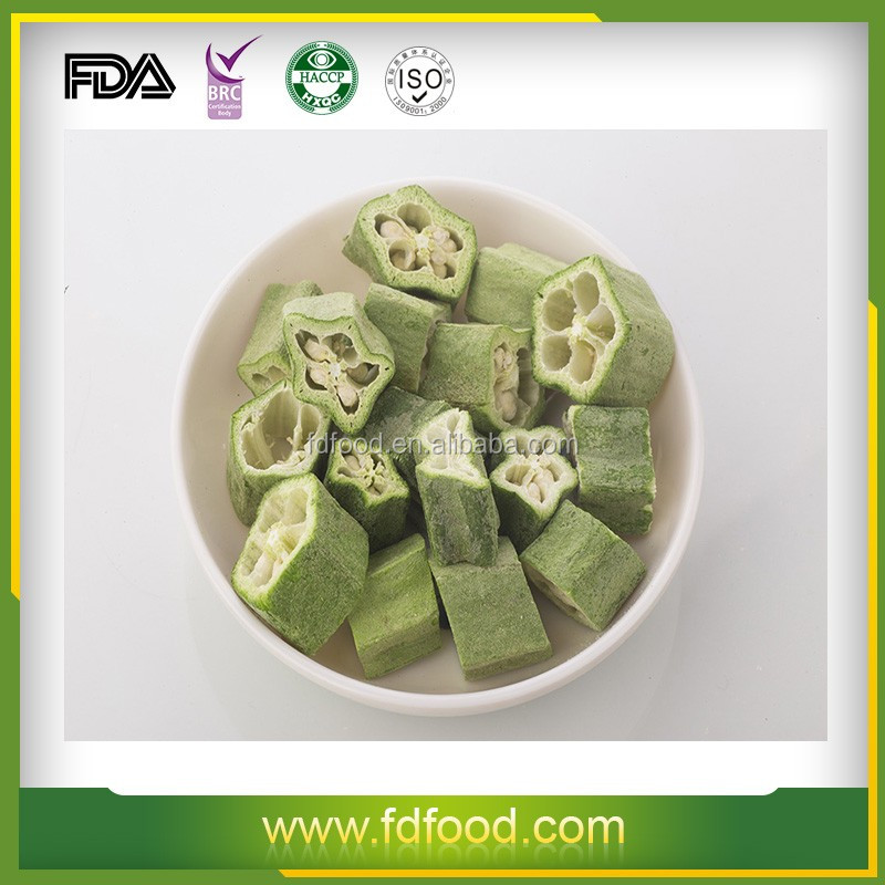 frozen okra Fry ingredients nutrition freeze dried okra vegetable