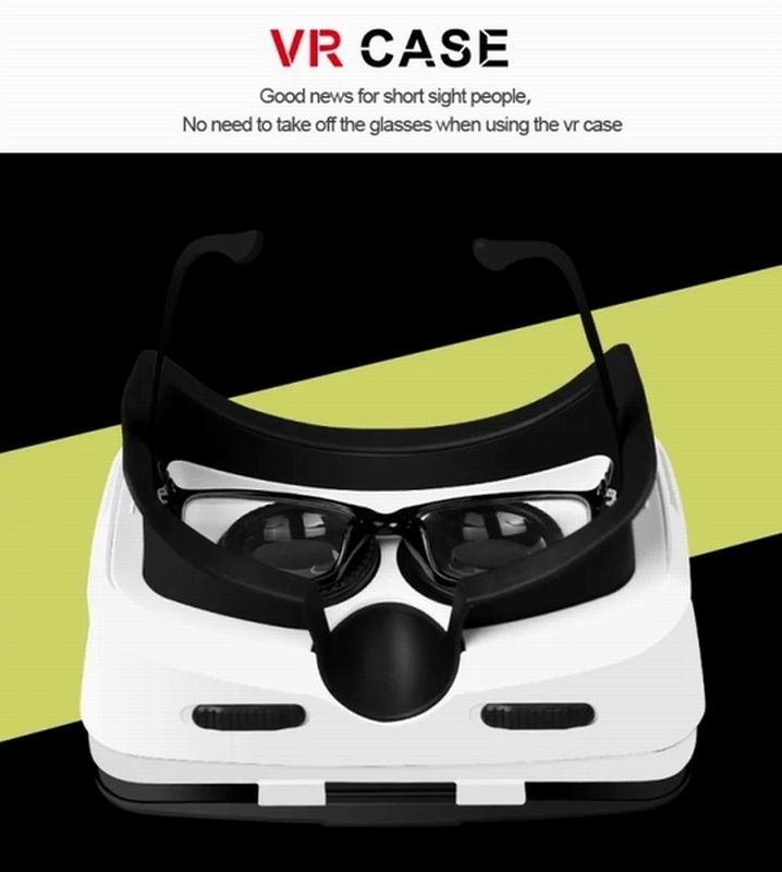 Portable Creative Virtual Reality 3D Glasses ,ABS and PC material VR CASE fashionable Free style