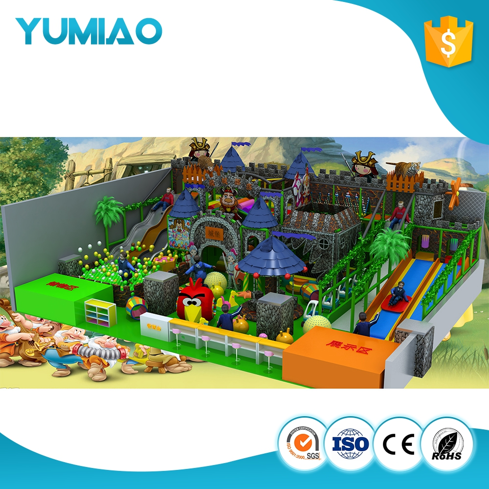 Hot selling commercial kids indoor playground soft indoor playground tree house slide playground