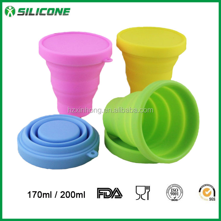 Wholesale Silicone Foldable silicone wine glass , portable cup for outdoor