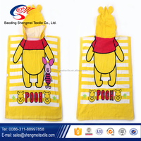 100% Organic Cotton Solid Color Hooded Baby Towel