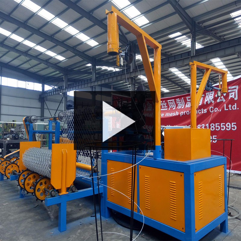 Engineers available Stainless steel fully-automatic chain link fence machine For highway fence
