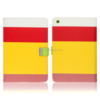 Popular and luxury Leather flip cover stand case for iPad Mini 2