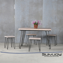 SUMJOY 2017 Hot Sale factory price fast food restaurant table and chair