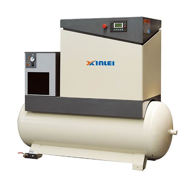 8bar 10bar 7.5HP 5.5KW XLPMTD7.5A-t815 screw air compressor with 500L air tank with air dryer with frequency inverter