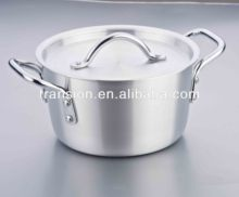 Pure Aluminum Stock Pot double handle all sizes with lid
