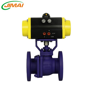 Pneumatic Actuator 2PCS WCB Flange Ball Valve