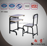 School furniture student single table and seat,Single Desk and Chair,school desk with bench