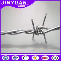 Galvanized barbed iron wire for fence