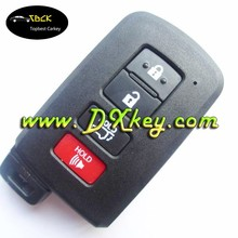 New Product 3+1 buttons smart car key covers for key toyota car key toyota