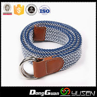 Unisex Woven Rope Braided Elastic Belts