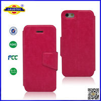 Hot Selling Smart Leather Flip Wallet Mobile Cover Case For iphone 5