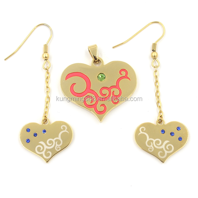 Latest fashion design hanging earrings and pendent wholesales