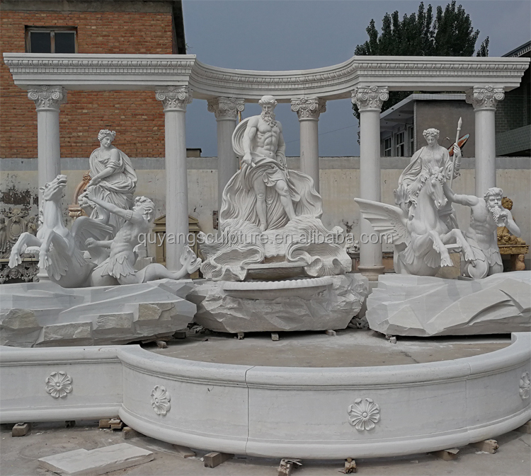 Outdoor Natural Marble Stone Fountain Trevi Fountain for Sale