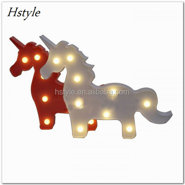 Marquee Sign Unicorn LED Letter Lamp 3D LED Baby Night Light Romantic Dim Mood Table Lamp For Kids' Room Decorations SNL110