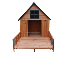 Factory price wooden dog house with belcony