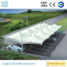 outdoor tensile fabric structure for carport shades