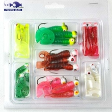 Top Quality fishing lure metal jig head soft bait supplier factory price wholesale fishing tackle made in china