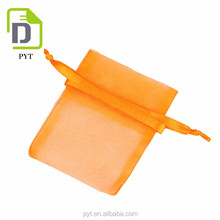 China manufacturer customized small size plain organza drawstring ring pouch for packaging
