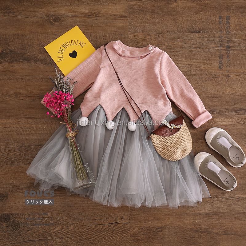 autumn wholesale fashion kids clothes girls dress long sleeve kids frock designs girl dress
