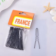 70*12mm Black Hair Fork U Shape Hairpin For Ladies Cheap Custom Bobby Pin Hair Ornament