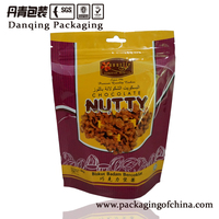 stand up pouch with zipper,snack bag,nut packaging