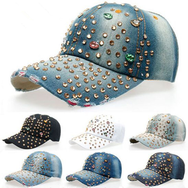 Wholesale Custom Colorful Blings Rhinestone <strong>Hats</strong>