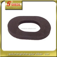 Fuel tank outlet to floor rubber filler dust shield
