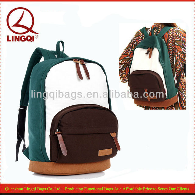 Cheap Stylish Coloful Korean Cute Canvas Backpack