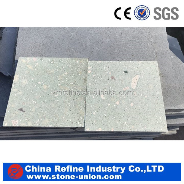 Temple green granite honed floor tiles