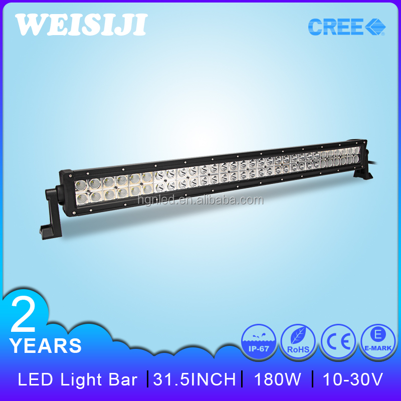Shenzhen HLE wholesale price 31.5 inch led light bar 180w on 4X4 Auto cars