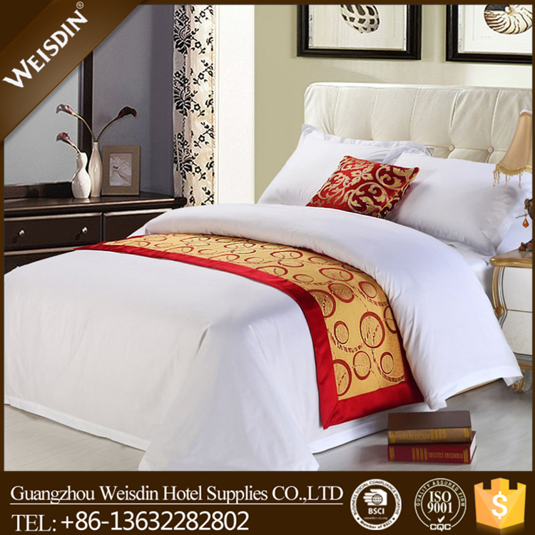 Weisidn wholesale luxury plain white duvet cover/bed sheet/pillowcase for hotel