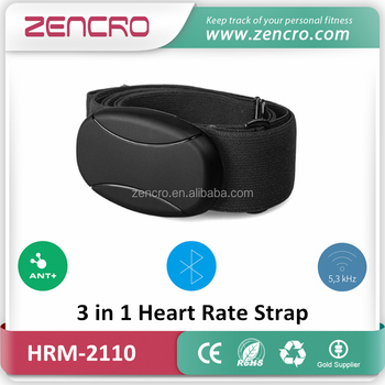 Bluetooth Low Energy Pulse Heartbeat Meter ANT+ 5.3kHz Wireless Heart Rate Monitor Chest Strap
