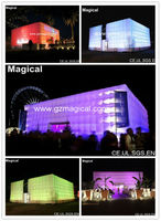 LED Inflatable cube tent/advertising tent