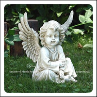 Natural Marble Little Stone Sitting Angel
