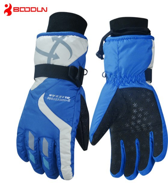 Unisex blue winter activity mens,womens,children,child ski glove for winter activity