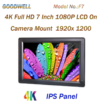New IPS Full HD 1920x1200 4K HDMI Input/ Output On-camera Mount 7 Inch 1080P LCD