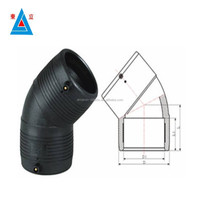 PN16 HDPE Butt Fusion Fittings 45 Degree Elbow for Water and Gas Supply 315mm