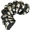 New Protective Camouflage Printing Neoprene Golf Iron Head Covers with Window