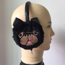 HOT SALE Leather soft fur earmuff with Embroidery HandWork and Earphones