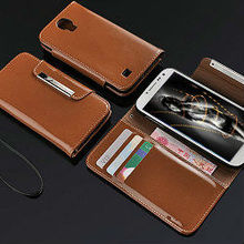luxury hot selling wallet leather case for samsung galaxy s4 active