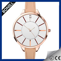 2016 hot selling vogue quartz leather strap ladies fancy wrist watches ladies leather bracelet wrist watch