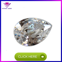 factory price Synthetic gemstone wholesale pear cut loose cz stone