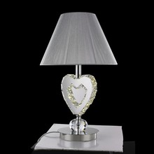 fabric lamp shade modern night light crystal led hotel table lamp