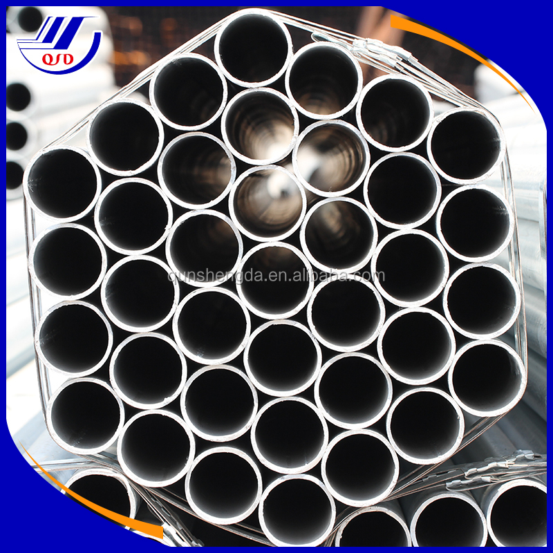 Tianjin manufacturer QSD_G3048 contact Tina building materials Q234 galvanized steel pipe for greenhouse frame