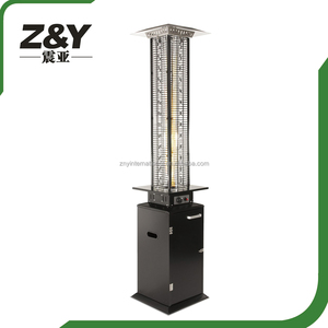NEW Glass Flame Natural Gas Patio Heater