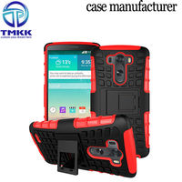 G3018 TPU + PC Holder Armour Case For LG G3 , Mobile Phone Hybrid Case