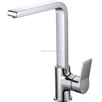 Long Neck Brass Kitchen Sink Faucet With Long Spout